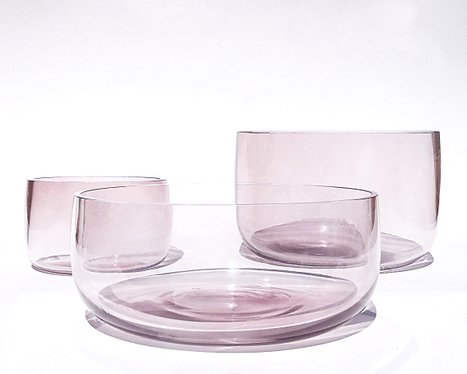 Watermark series - purple set of bowls